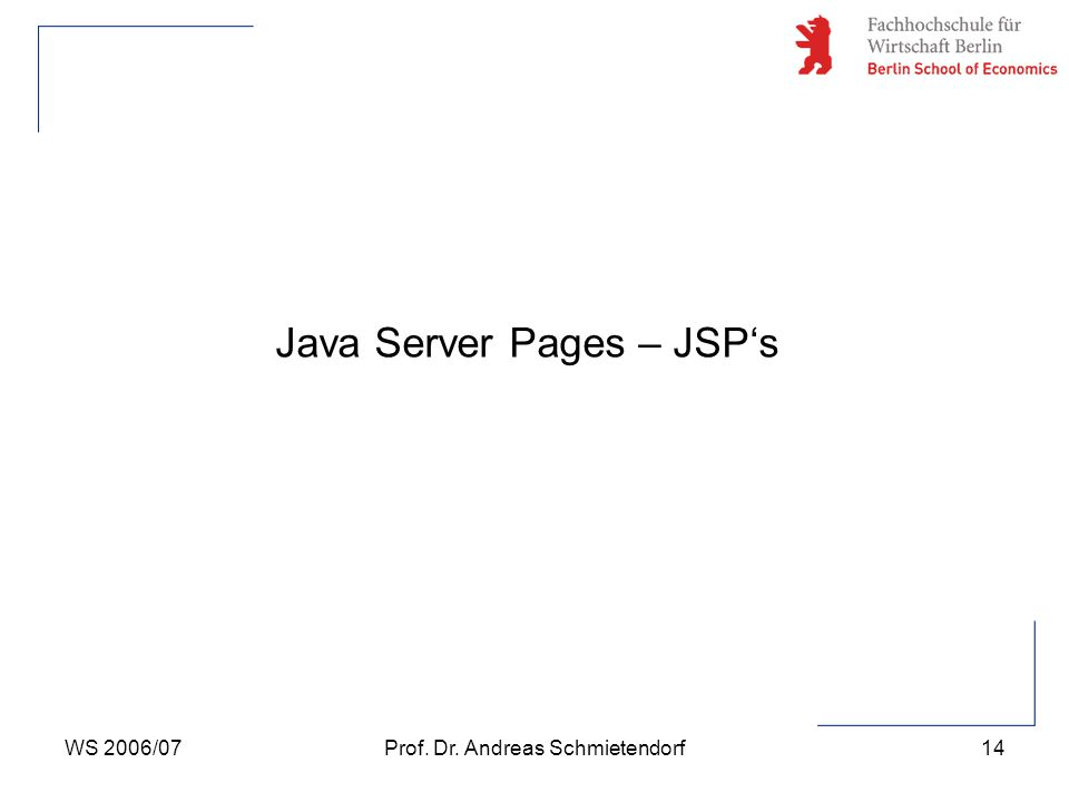 Java Server Pages – JSP's