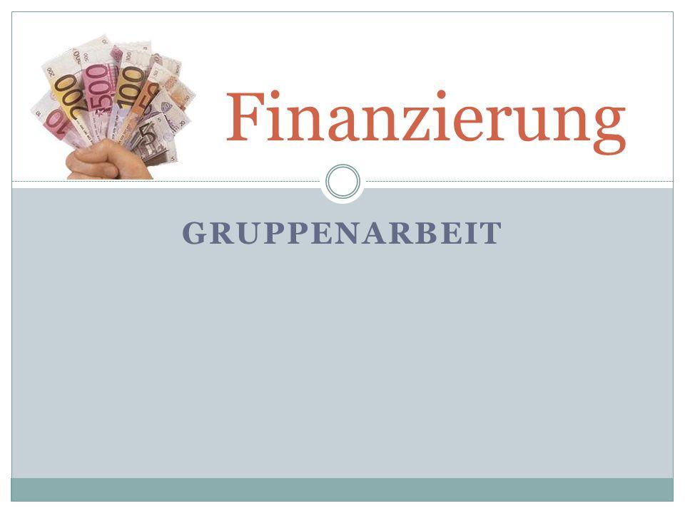 Finanzierung Gruppenarbeit
