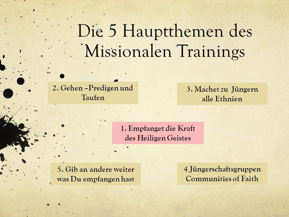 Die 5 Hauptthemen des Missionalen Trainings
