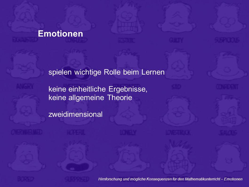 Emotionen spielen wichtige Rolle beim Lernen
