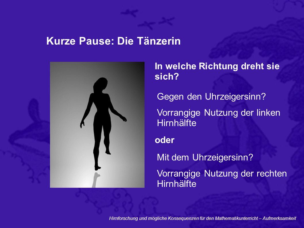 Kurze Pause: Die Tänzerin