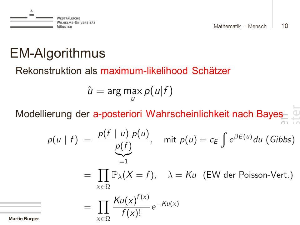 EM-Algorithmus Rekonstruktion als maximum-likelihood Schätzer