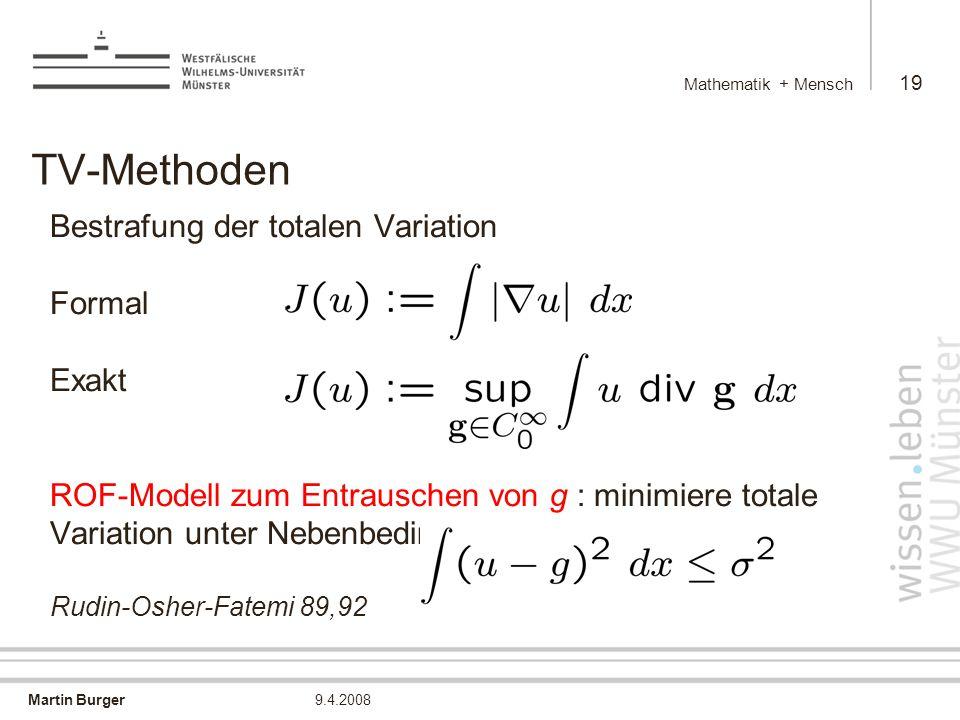Mathematik + Mensch TV-Methoden.
