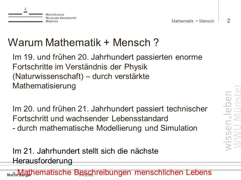 Warum Mathematik + Mensch