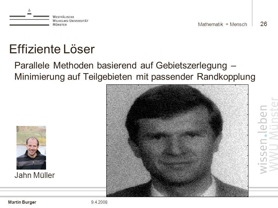 Mathematik + Mensch Effiziente Löser.