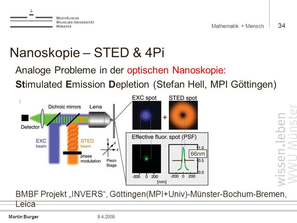 Nanoskopie – STED & 4Pi Analoge Probleme in der optischen Nanoskopie:
