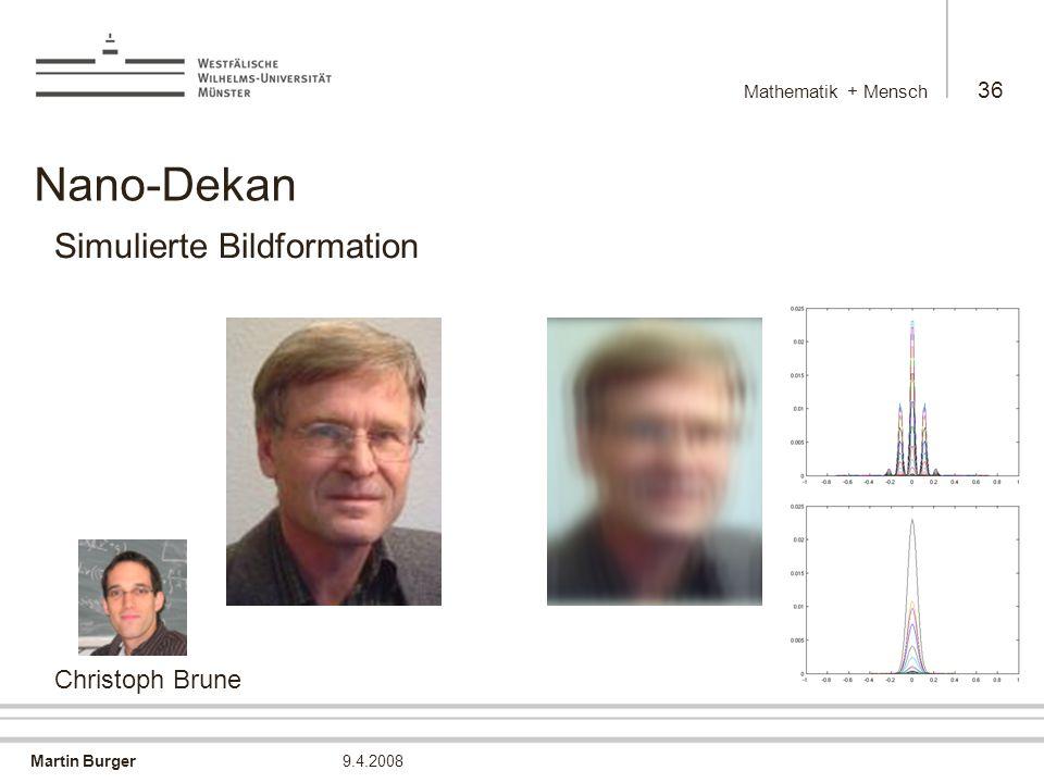 Nano-Dekan Simulierte Bildformation → Christoph Brune