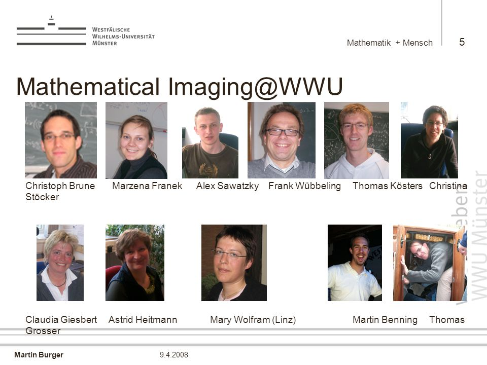 Mathematical Imaging@WWU