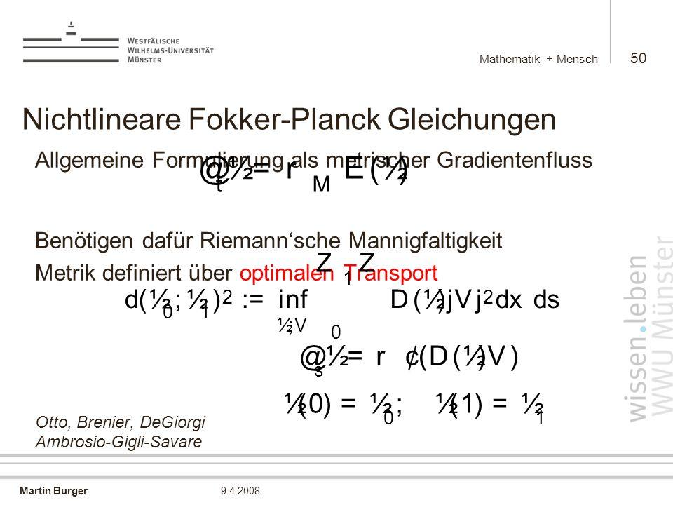 Nichtlineare Fokker-Planck Gleichungen