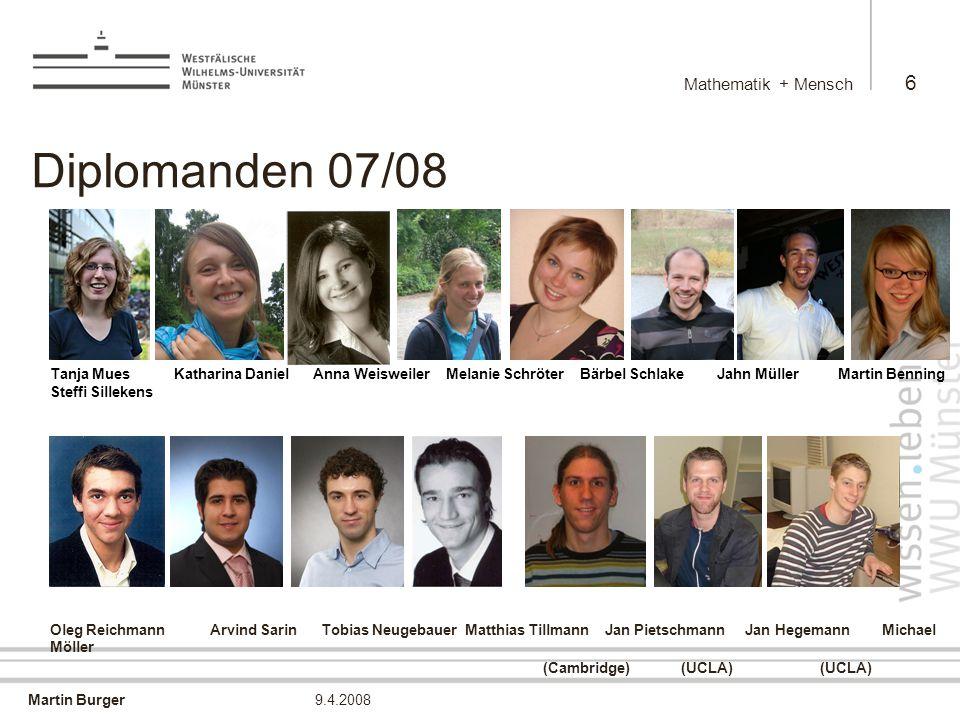 Diplomanden 07/08 Mathematik + Mensch