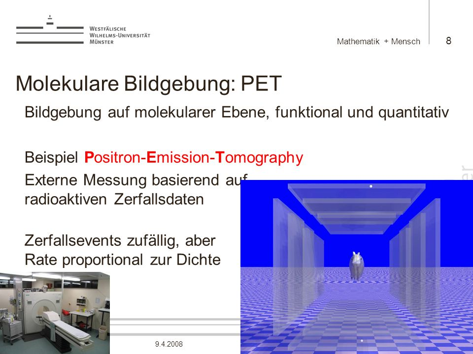 Molekulare Bildgebung: PET