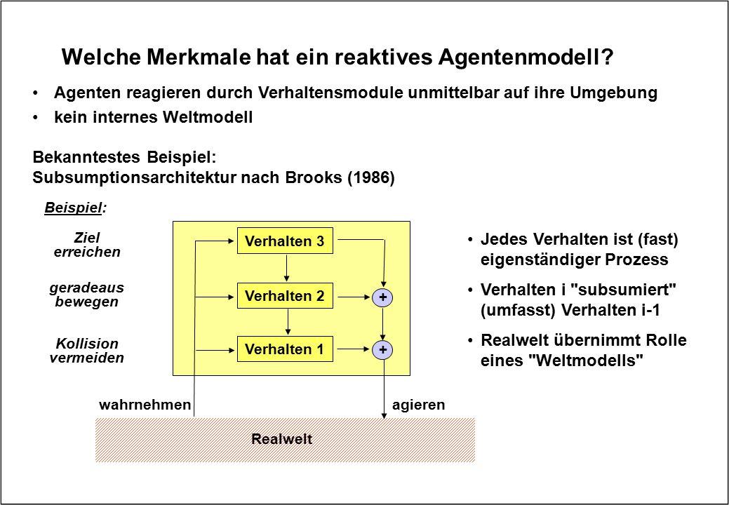Welche Merkmale hat ein reaktives Agentenmodell