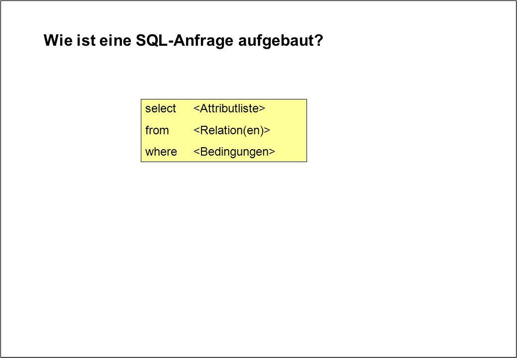 Wie ist eine SQL-Anfrage aufgebaut