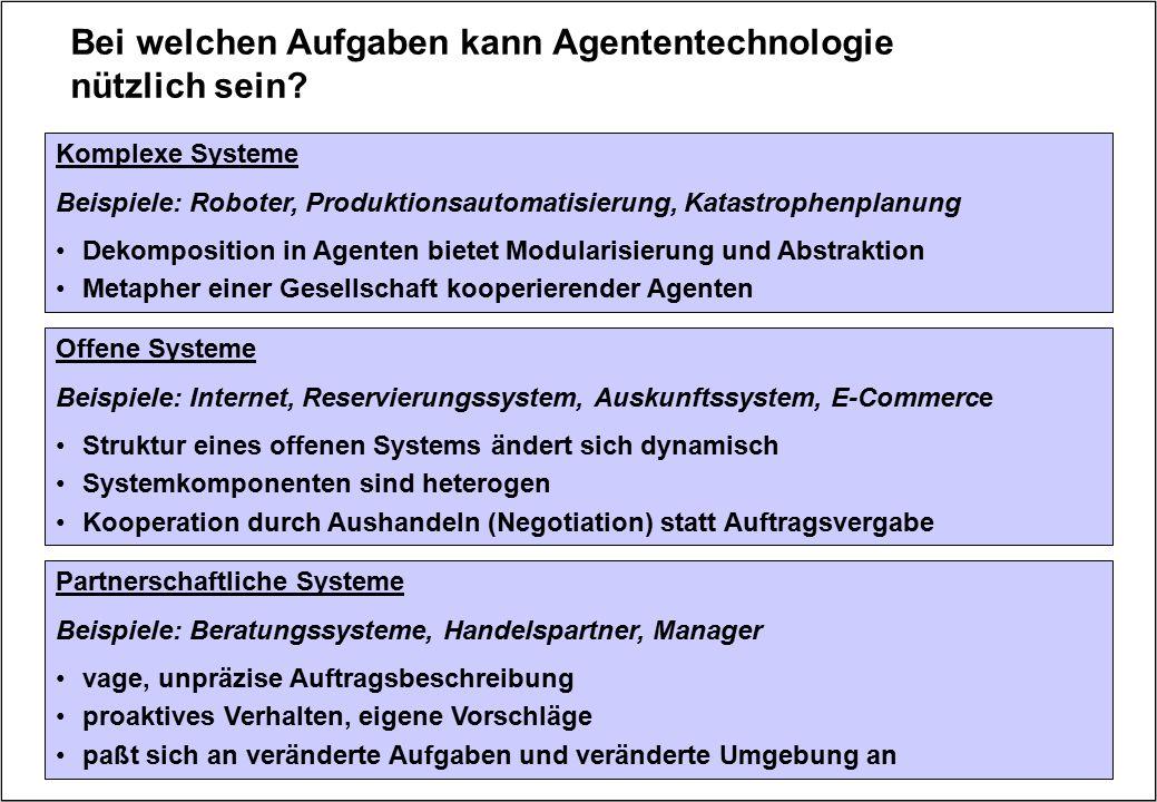 Bei welchen Aufgaben kann Agententechnologie nützlich sein