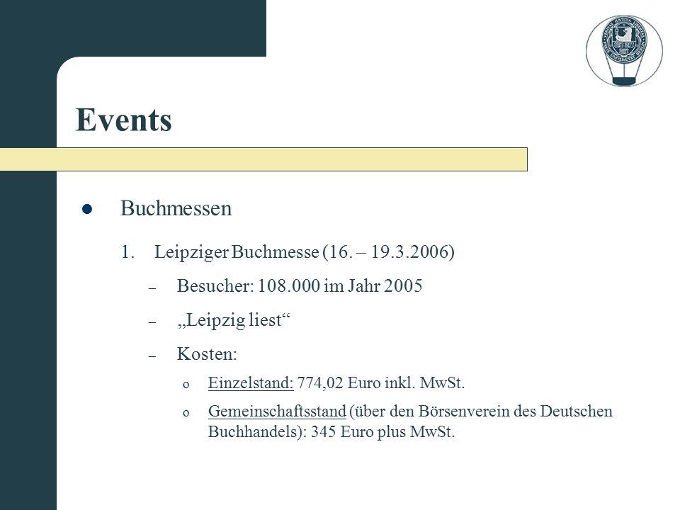 Events Buchmessen Leipziger Buchmesse (16. – 19.3.2006)