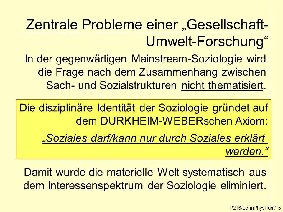 """Zentrale Probleme einer """"Gesellschaft-Umwelt-Forschung"""