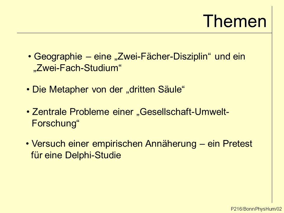 """Themen Geographie – eine """"Zwei-Fächer-Disziplin und ein"""