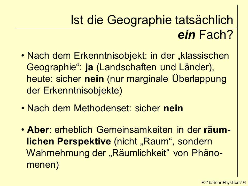 Ist die Geographie tatsächlich ein Fach