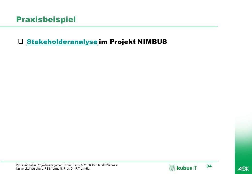 Praxisbeispiel Stakeholderanalyse im Projekt NIMBUS
