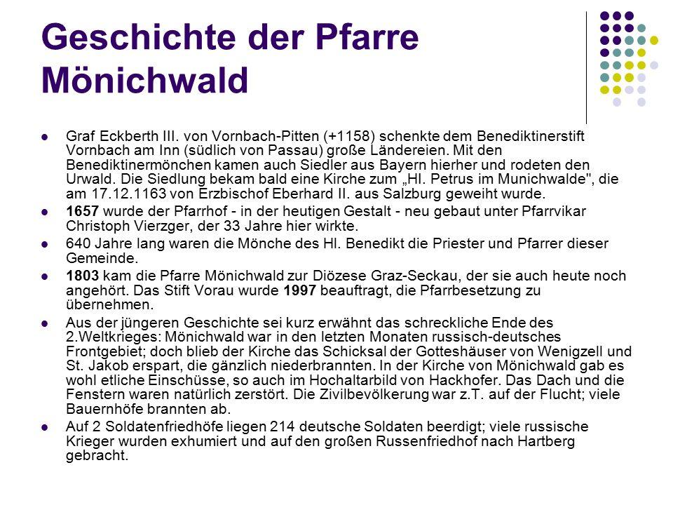 Geschichte der Pfarre Mönichwald