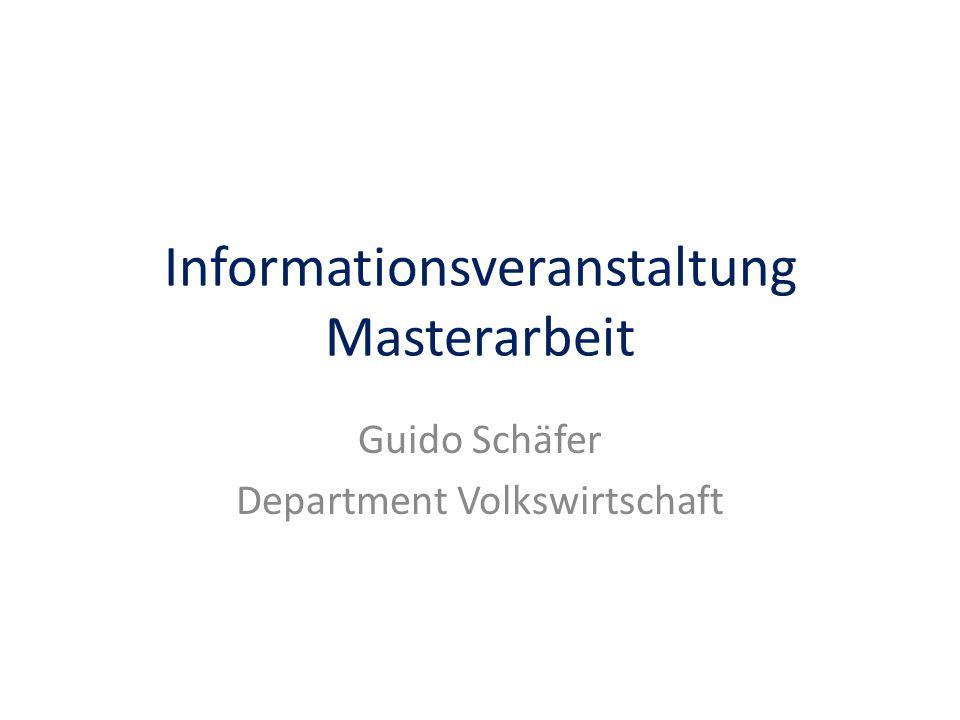 Informationsveranstaltung Masterarbeit