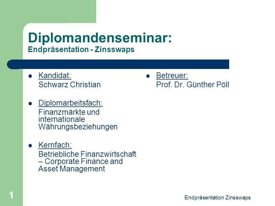 Diplomandenseminar: Endpräsentation - Zinsswaps
