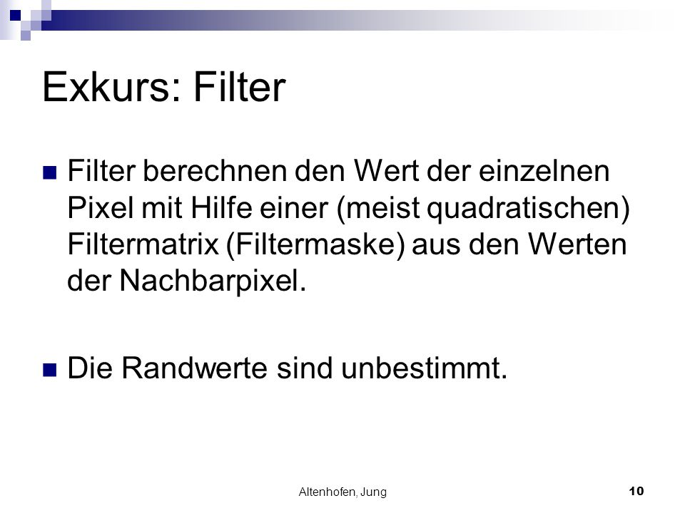 Exkurs: Filter