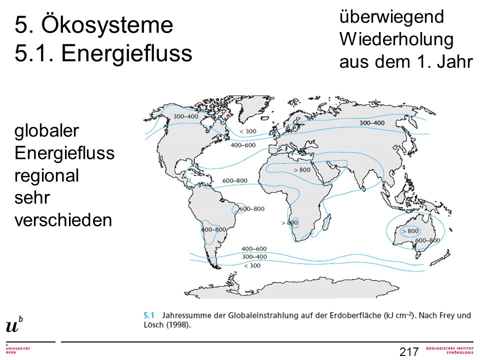 5. Ökosysteme 5.1. Energiefluss