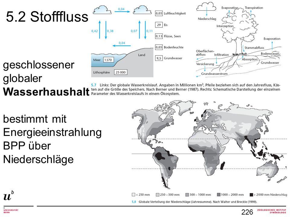 5.2 Stofffluss geschlossener globaler Wasserhaushalt bestimmt mit