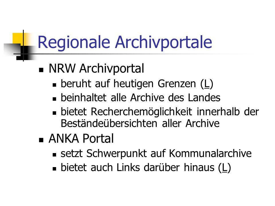 Regionale Archivportale