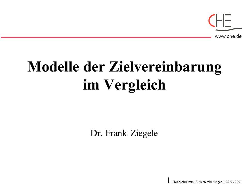 Modelle der Zielvereinbarung im Vergleich