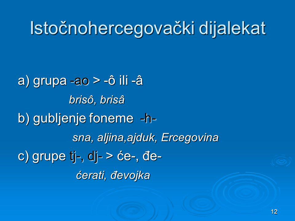 Istočnohercegovački dijalekat
