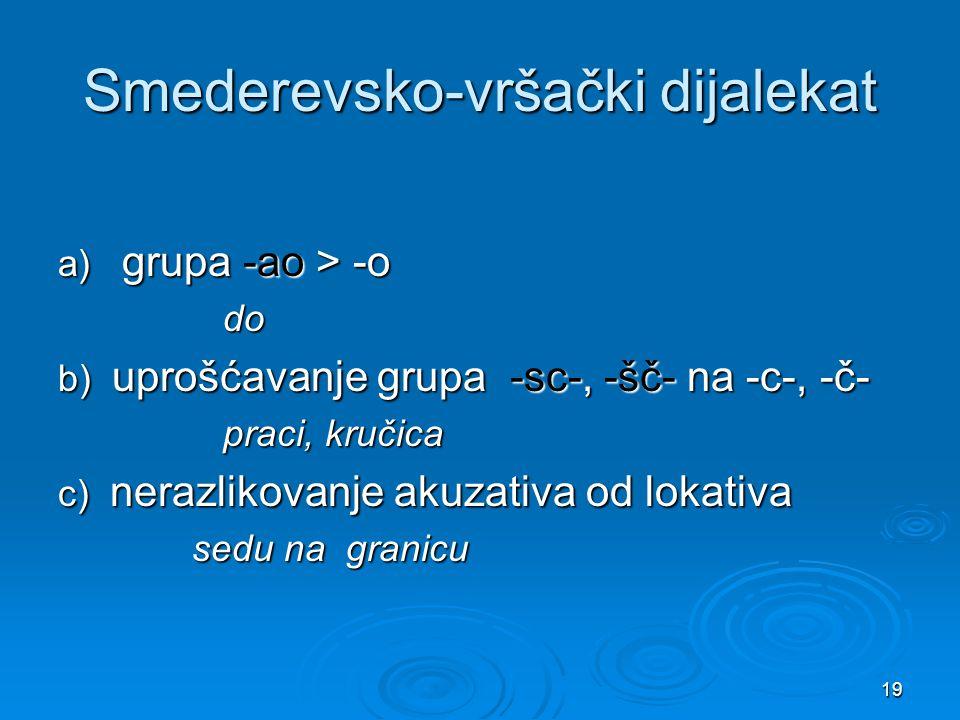 Smederevsko-vršački dijalekat