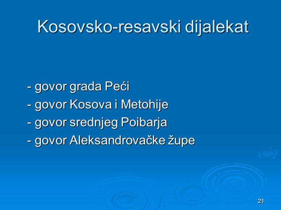 Kosovsko-resavski dijalekat