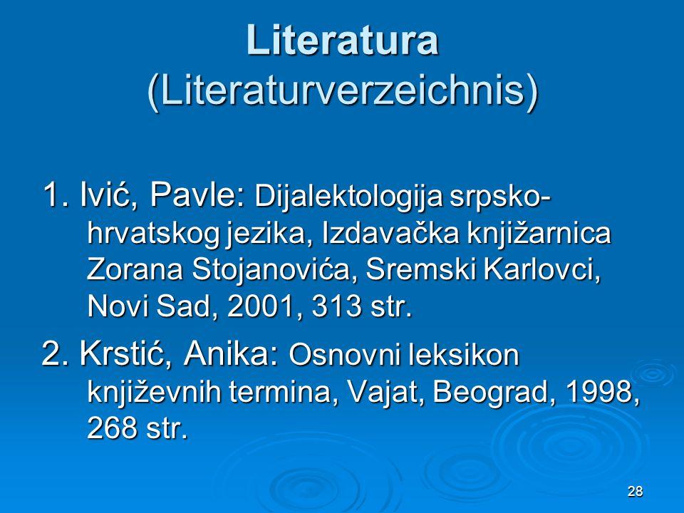 Literatura (Literaturverzeichnis)