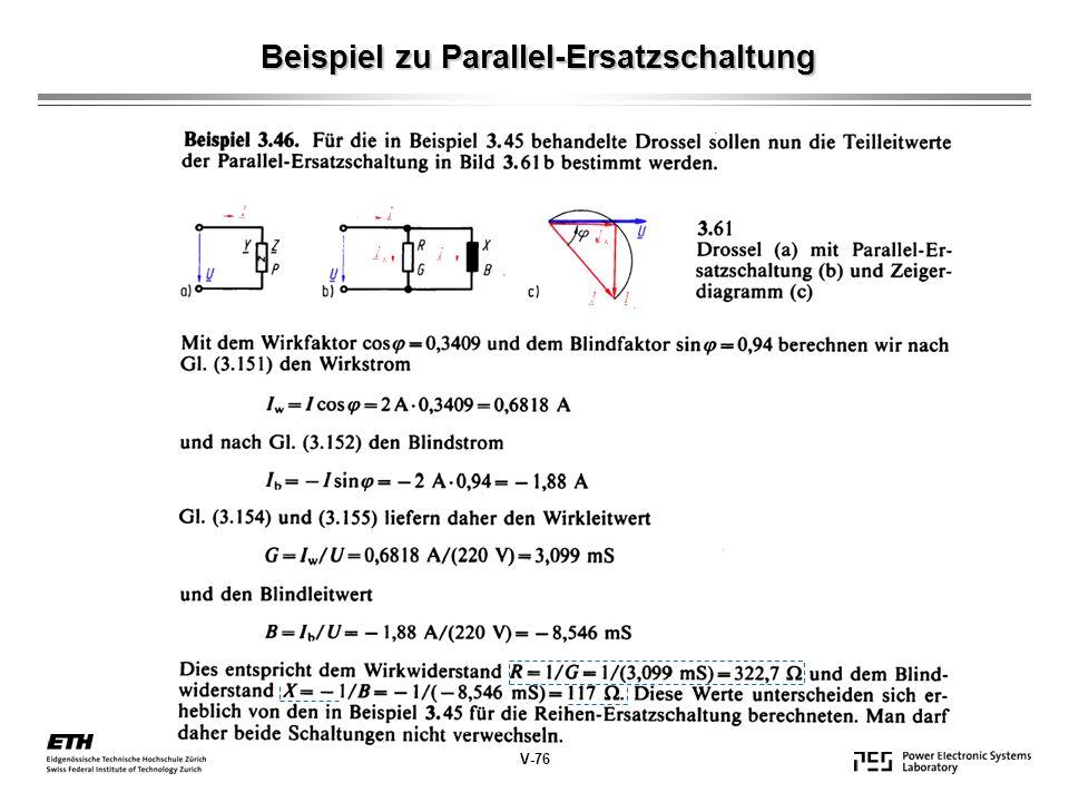Beispiel zu Parallel-Ersatzschaltung