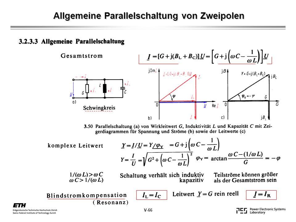 Allgemeine Parallelschaltung von Zweipolen