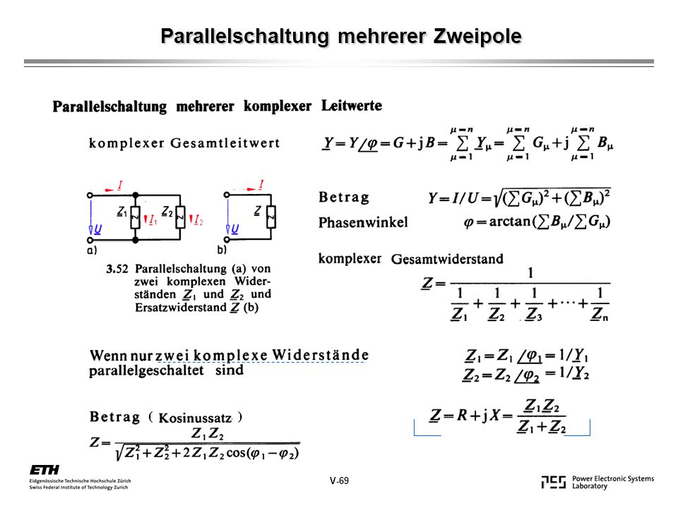 Parallelschaltung mehrerer Zweipole