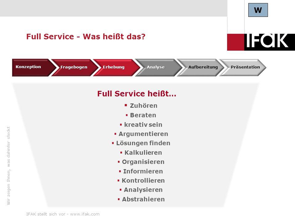 Full Service - Was heißt das