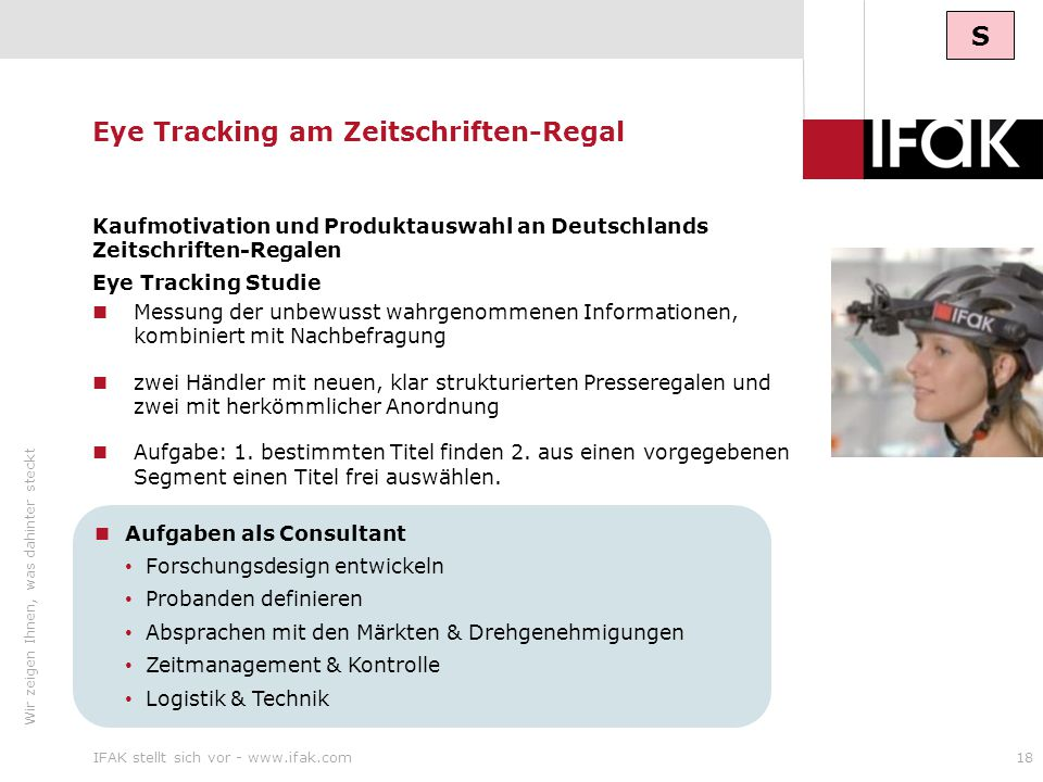 Eye Tracking am Zeitschriften-Regal