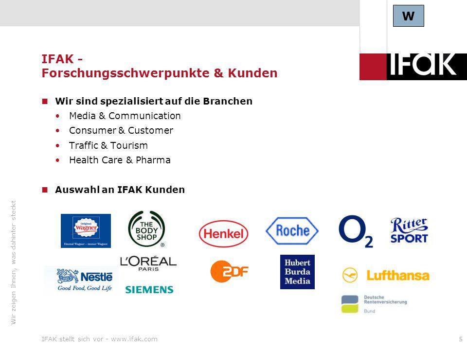 IFAK - Forschungsschwerpunkte & Kunden
