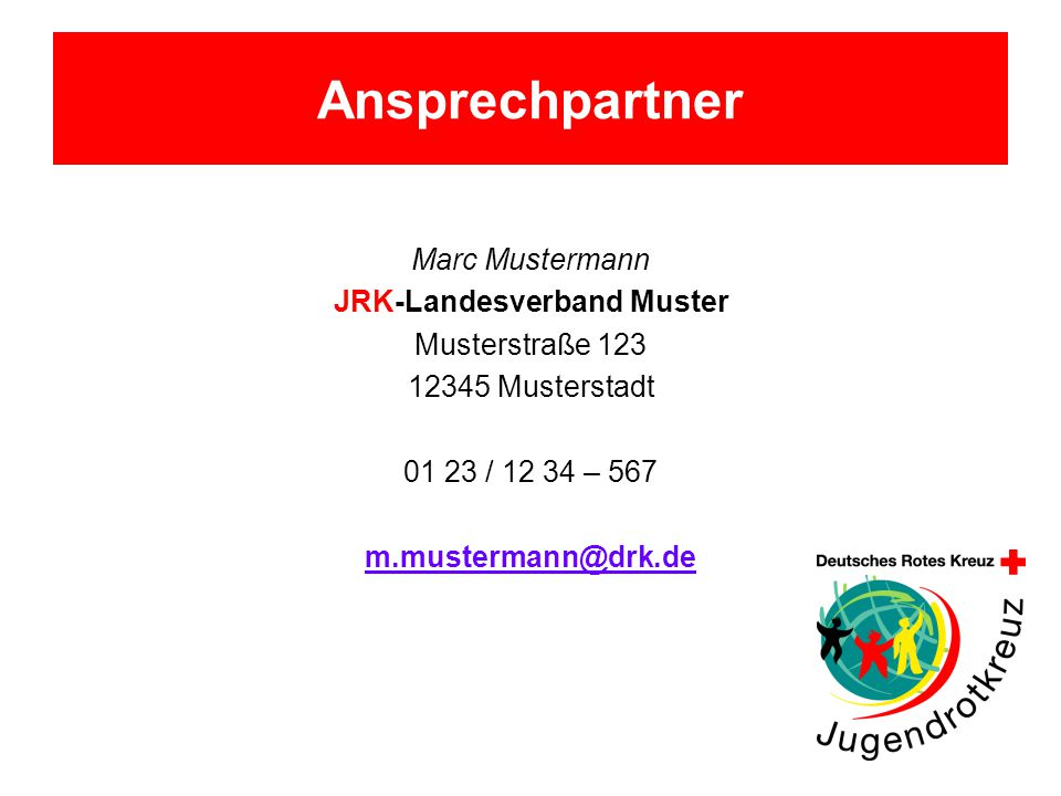 JRK-Landesverband Muster