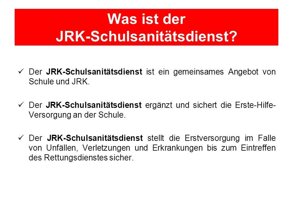 Was ist der JRK-Schulsanitätsdienst