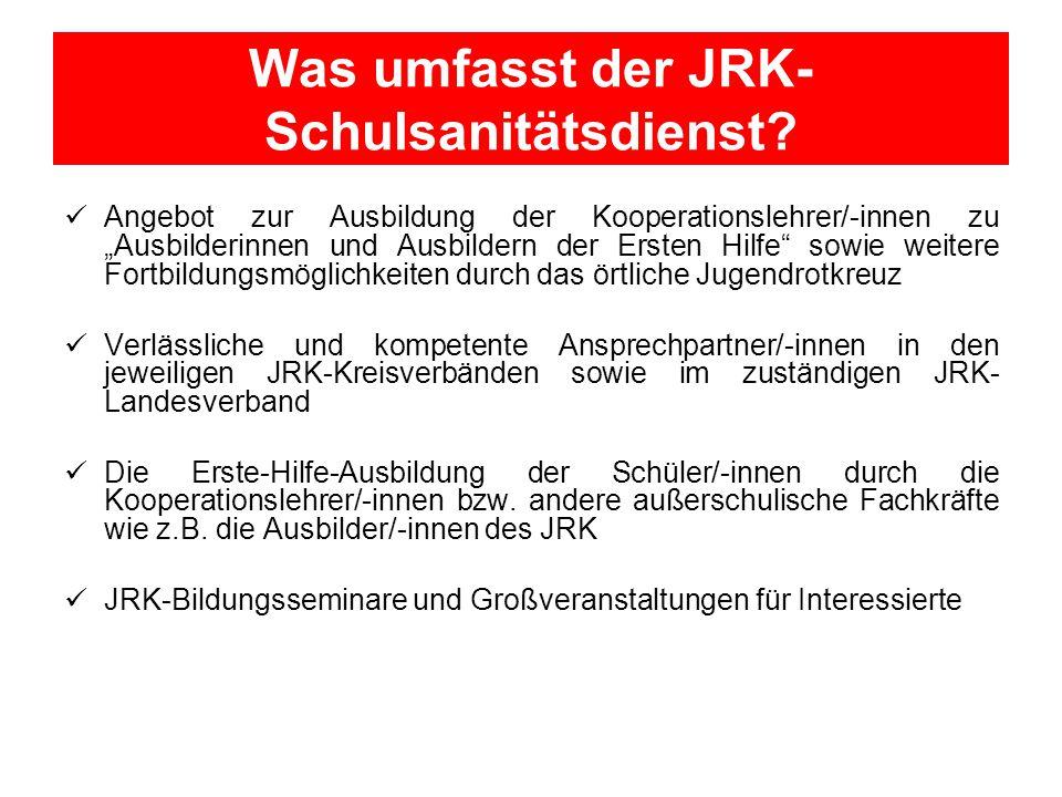 Was umfasst der JRK-Schulsanitätsdienst
