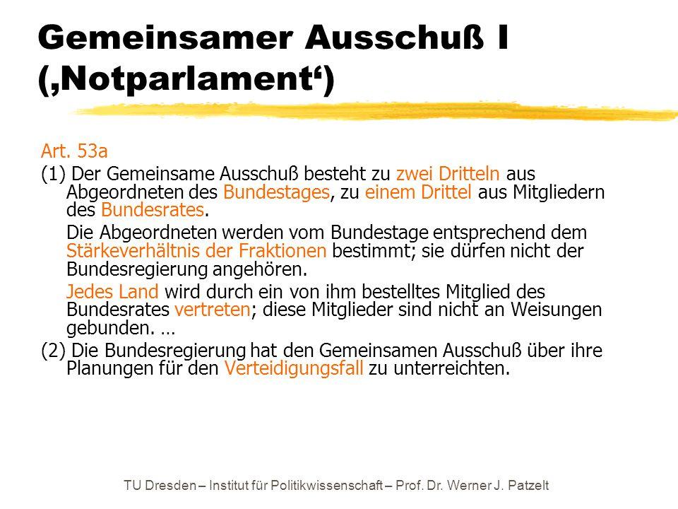 Gemeinsamer Ausschuß I ('Notparlament')