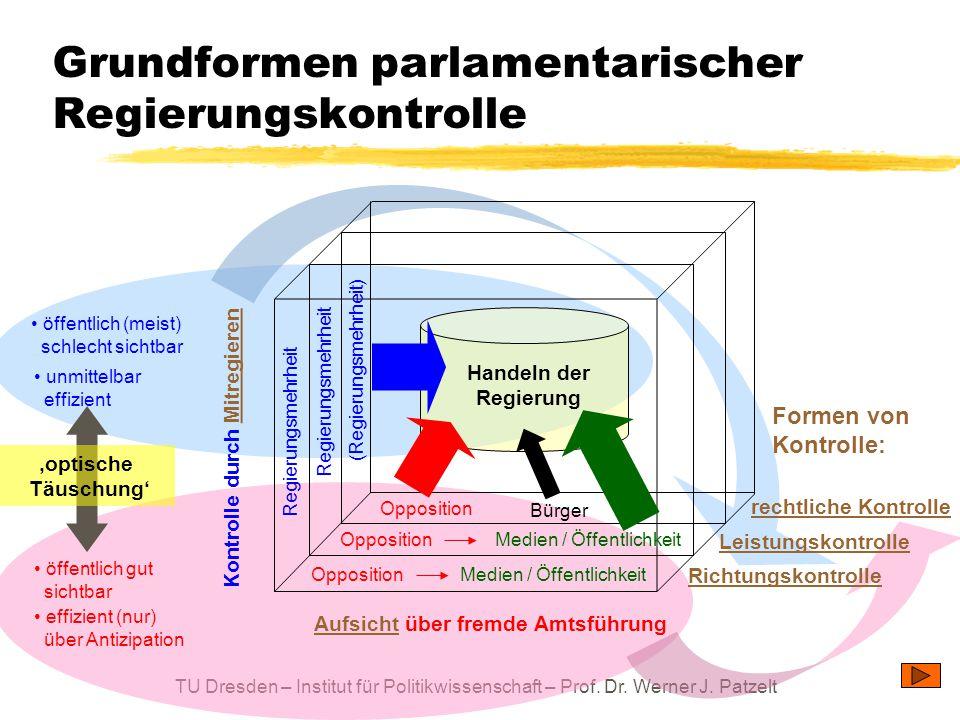 Grundformen parlamentarischer Regierungskontrolle