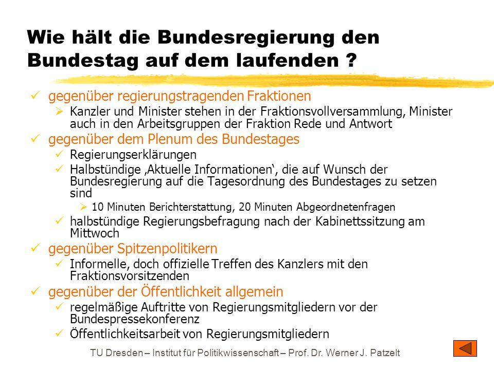 Wie hält die Bundesregierung den Bundestag auf dem laufenden