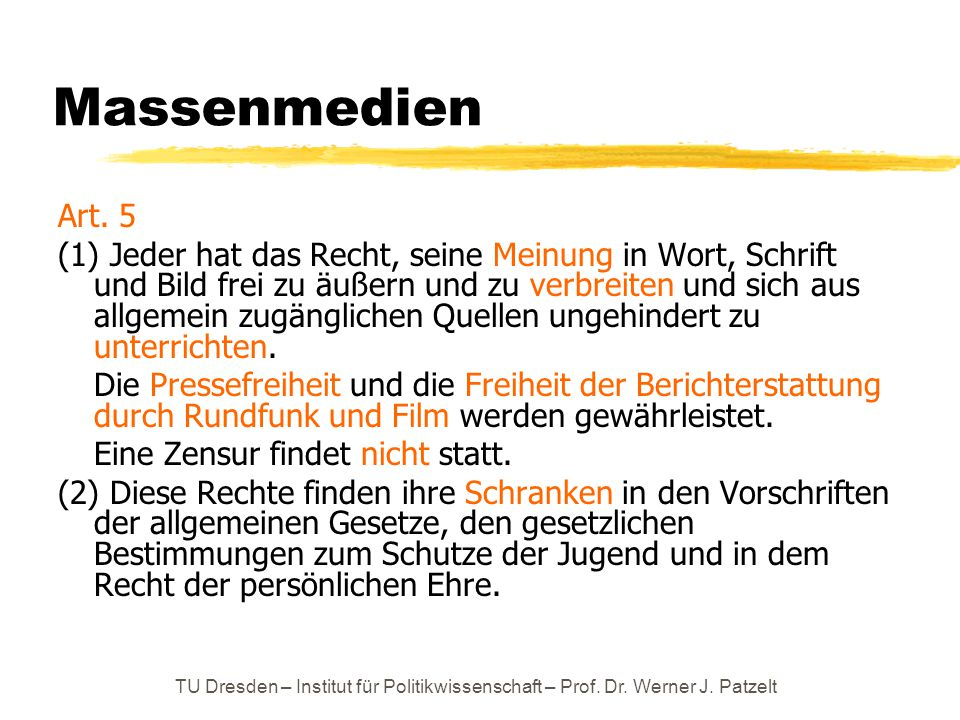 Massenmedien Art. 5.