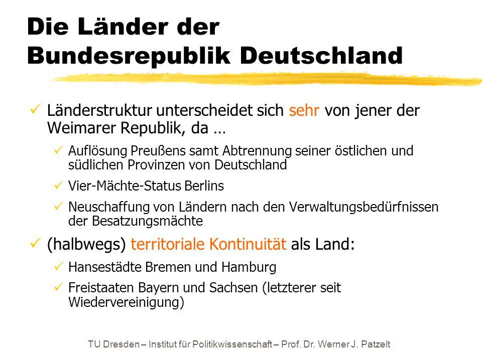 Die Länder der Bundesrepublik Deutschland