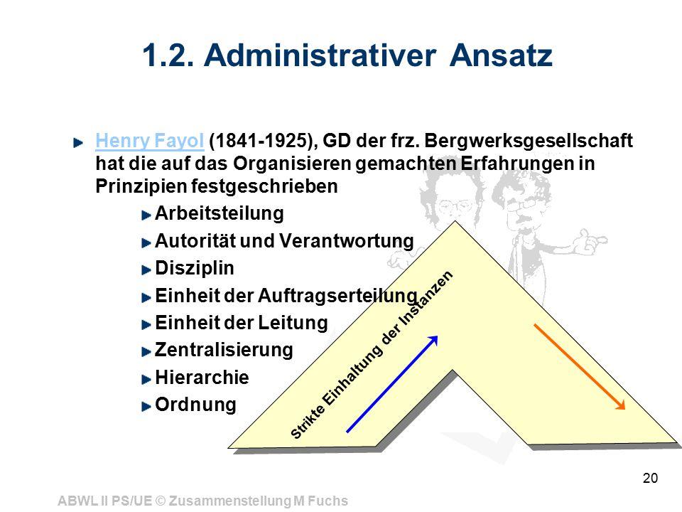 1.2. Administrativer Ansatz